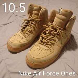 Sz 10.5 Nike Air Force 1 High '07 LV8 WB 'Flax'